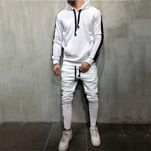 Image 3 - Hot Fashion Men Running Set 2Pcs Breathable Sport Suits Tracksuit Male Gym Sportswear Hip Hop Hoodies Sweatshirts 3XL