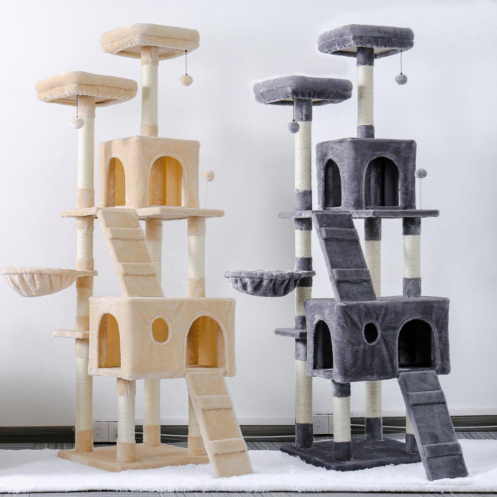 Pet Cats Tree House Condo Perch Entertainment Playground Stable Furniture For Cats Kittens Multi Level Tower For Large Cats Cozy Furniture Scratchers Aliexpress