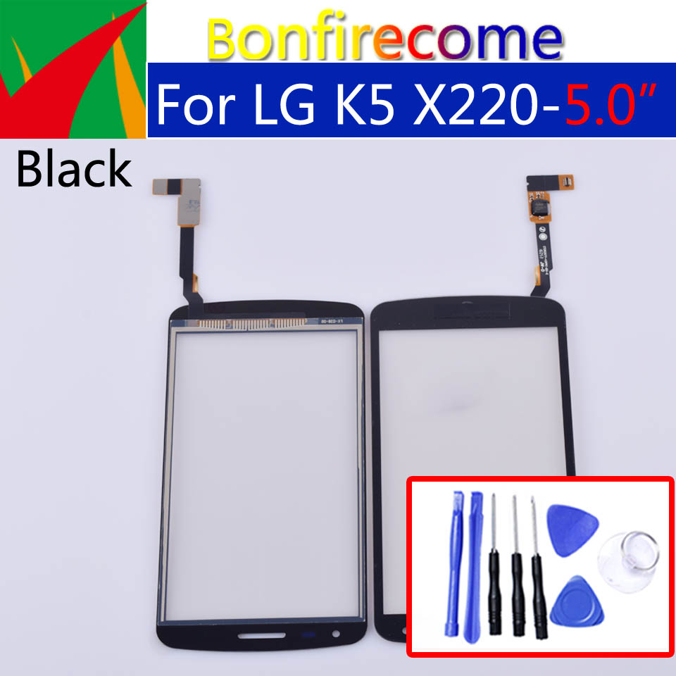 Touchscreen For LG K5 X220 X220MB X220DS Touch Screen Digitizer LCD Display Front Glass Panel Sensor Replacement 5.0 Inch