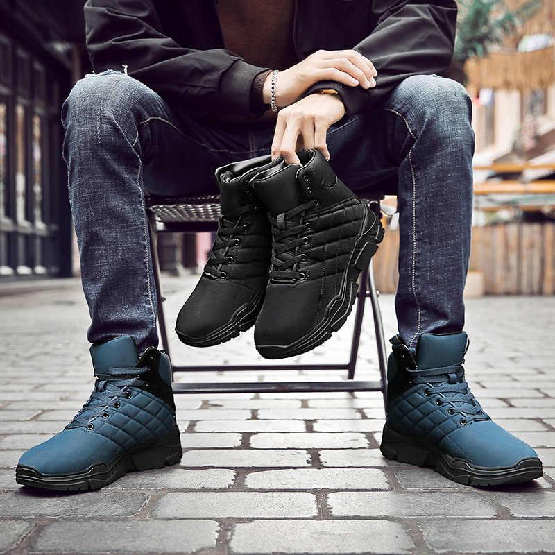 ผู้ชาย Lace Up TOP ฤดูหนาวรองเท้าสบายๆ Breathable รองเท้ากลางแจ้ง hh88