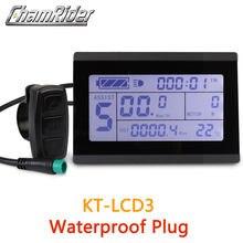 Frete grátis conector à prova dwaterproof água plug 24v 36v 48 display inteligente kt lcd3 bicicleta elétrica peças controlador