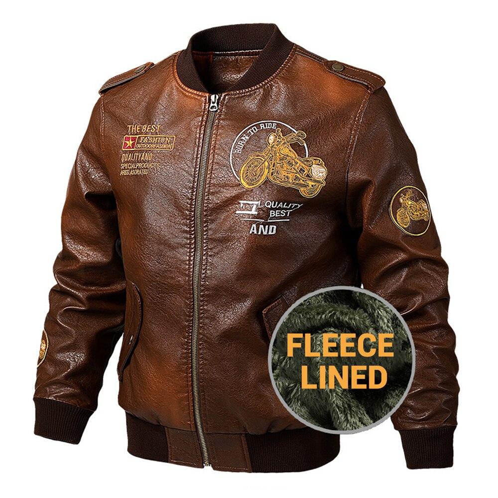 New Motorcycle Jacket PU Leather Riding Jacket Motorcycle Leather Jacket Plush Thicken Biker Clothing Retro Stylish Coat