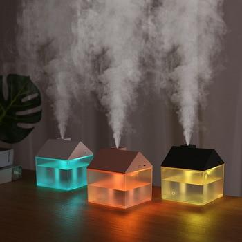 USB Creative House Humidifier Quiet Mini Aromatherapy Machine Night Light Fan 3 In 1 elephant humidifier usb charging colorful night light mini humidifier aromatherapy machine