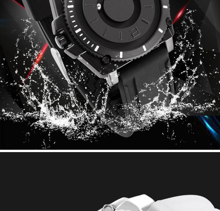 Hc99177a4b26440c2aa543127518c8ee1M Eutour magnetic watch parallel time and space black technology men's couple wristwatch women's wristwatch personality gel wristb
