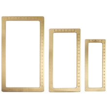 3pcs/set Brass Paper Weight Metal Calligraphy Ruler Chinese Brush Pen Painting Paper Pressing Prop with Scale Pisa Papel Metal