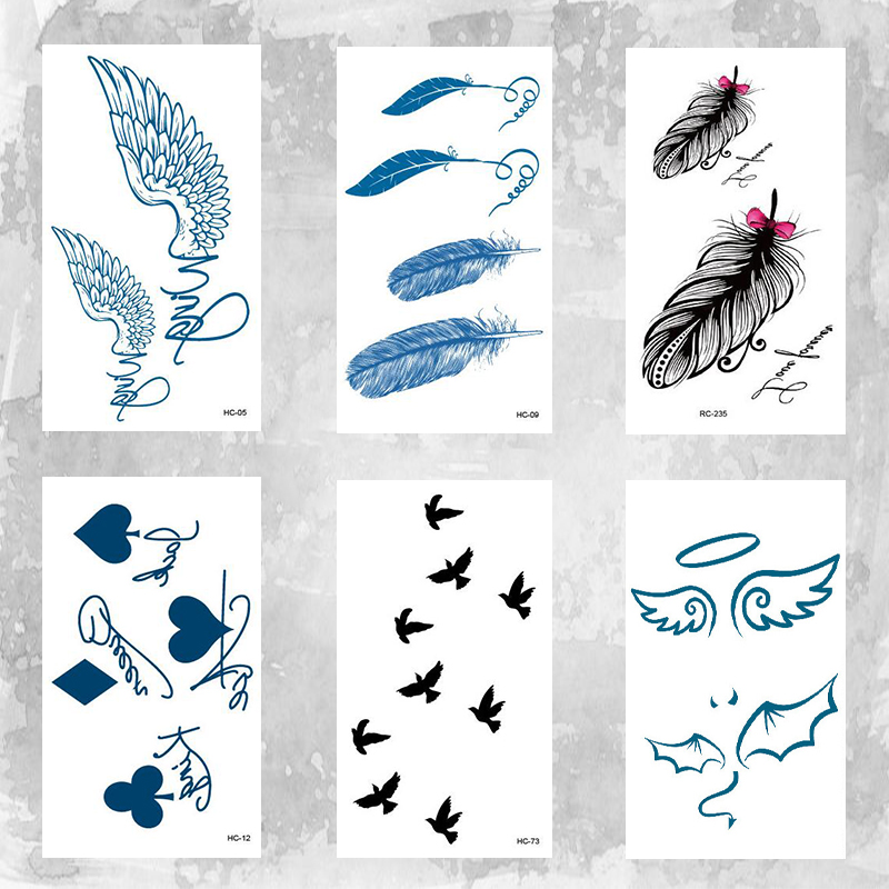 Cute Wings Angle Body Art Beauty Makeup Waterproof Temporary Tattoo Stickers
