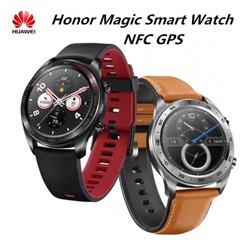 Huawei Honor Watch Magic Smart Watch NFC GPS  Heart Rate Tracker Sleep Tracker Working 7 Days Message Reminder 5ATM WaterProof