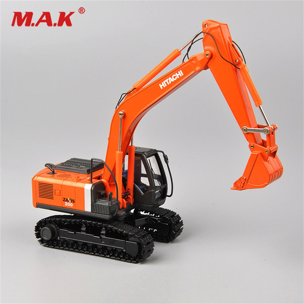 1/50 Scale Hitachi Zaxis ZH200 DieCast Alloy Excavator Model Metal Tracks Car Toys Trucks