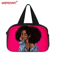 WHEREISART Womens Waterproof Travel Bag Large Capacity Double Layer Storage Portable Duffle Bags Packing Cube Weekend