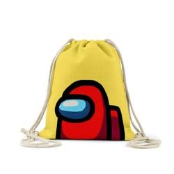 Jogo drawstring mochila pacote bolso anime saco de compras ao ar livre saco de viagem escolar entre os eua armazenamento saco presente de natal