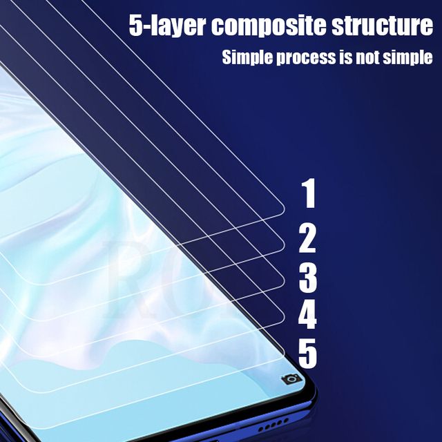 4PCS Full Cover Tempered Glass For Huawei P30 P40 Lite P20 Pro Glass Screen Protector For Huawei Mate 20 30 Lite P Smart Glass 6