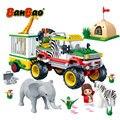 BanBao 6653 спасательная палатка для животных лагерь Национальный зоопарк сафари Кубики