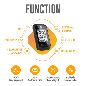 Image 5 - Định Vị GPS Đi Xe Đạp Máy Tính BT Kiến Không Dây Xe Đạp Máy Tính Kỹ Thuật Số Đồng Hồ Tốc Độ IPX7 Chính Xác Xe Đạp Máy Tính Có Nắp Che Bảo Vệ