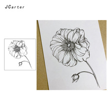 JC Clear Stamps Rubber Transparent Blooming Flower Silicone Scrapbooking for Card Making Craft Decoration New Stamp 2019