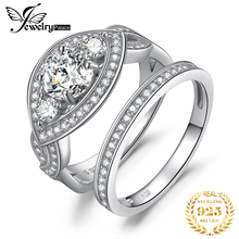 купить JewelryPalace Twisted CZ Pave Band Marquise 2.7ct Cubic Zirconia Wedding Band Engagement Ring Bridal Sets 925 Sterling Silver по цене 1317.98 рублей