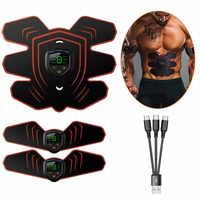 EMS Muskel Electro Stimulator Bauchmuskeln Toner Abs Trainer mit LCD Display USB Aufladbare Fitness Training Getriebe Ab Gürtel