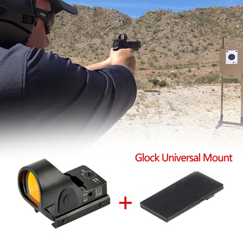Glock Red Dot Sight Collimator Sight Mini RMR SRO Red Dot Scope Sight 2.5 moa Airsoft Hunting Reflex Sight fit 20mm Weaver Rail c more style red dot sight railway reflex for ris rail 4 color options free shipping
