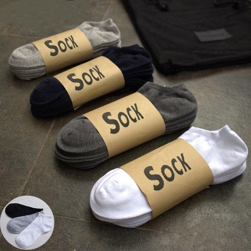 1/2/4/6 Pairs Breathable Men's Socks Short Ankle Socks Men Solid Mesh High Quality Male Boat Socks HOT SALE Black White Grey