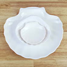 Free shipping. A5 Melamine tableware. dish. This paragraph is shell  Eco friendly tableware