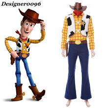 Movie Toy Story 4 Sherif Woody Cosplay Costume Actor with the same costume Halloween from man Adult