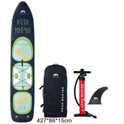 AQUA MARINA nuevo viaje tándem de gran tamaño inflable sup stand up paddle tabla surf tabla de surf, kayak inflable de la cámara