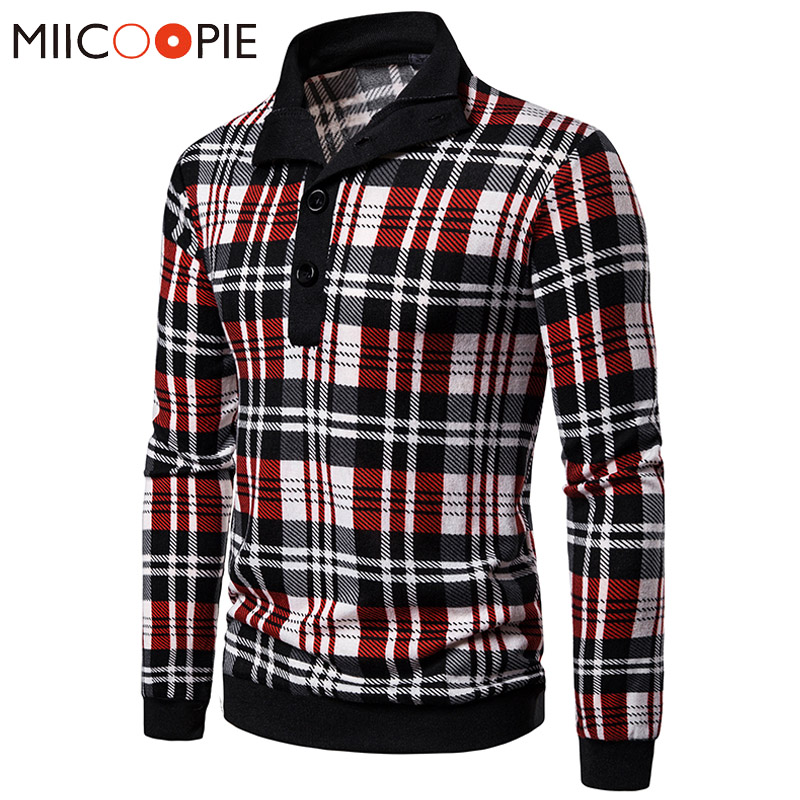 Button And Zipper Collar Designer Sweater Men Fashion Plaid Pullover Sweter Coats Classic Slim Thin Jersey Mens Knitted Sweaters