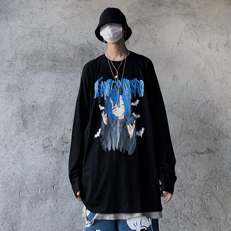 Универсальная хлопковая Винтажная футболка в стиле хип хоп с