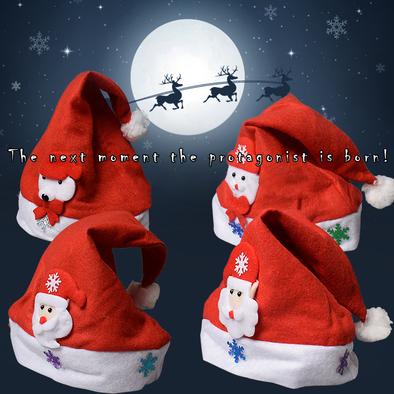 Image 4 - 2019 LED Luminous Christmas Hat New Christmas Decorations Children Adult Hat New Year Holiday Props Party Supplies-in Christmas Hats from Home & Garden