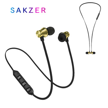 цена на Bluetooth Earphone Wireless Sport Headphone Magnet Earbuds With Microphone Stereo Bluetooth Earpiece for Phone