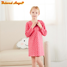 купить Girl Dress Long Sleeve Kids Dresses for Girls Cotton Clothes Autumn Winter Princess Party Dress Baby New Year Clothing 3-8yrs дешево