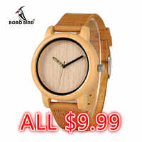 BOBO BIRD Watch Man Ladies Wood handmadeZebra Ebony Wood Wristwatches Male Leather Quartz in Sales Deal $9.19 Freeshipping