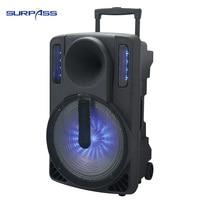 Waterproof active super power Music Speaker led Light Outdoor Portable 10 inch tv karaoke Speaker sound audio system home cenima