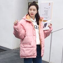 2019 Real New Full Zipper Solid Fashion Cotton Cotton-padded Jacket More Big Yards Hooded Warm Winter For Women