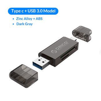 Orico Type-C USB 3.0 2 In 1 SD/Micro SD TF High-Speed OTG Memory Card Reader for Type-C Smart Phone Tablet Computer  Laptop