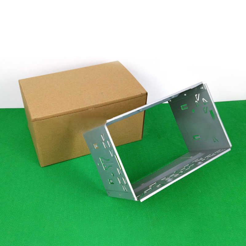 العالمي ISO 2DIN مزدوجة سبيكة الحديد الإطار DVD الملاحة قوس لوحة للسيارات تعديل الصوت الإطار