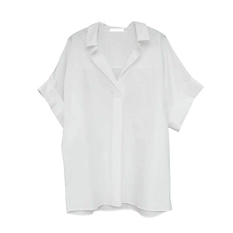 Сплошной цветной лацкан короткий рукав Плиссированное женское платье сладкий джокер Повседневная простая Мода 2019 Лето Новинка Z965