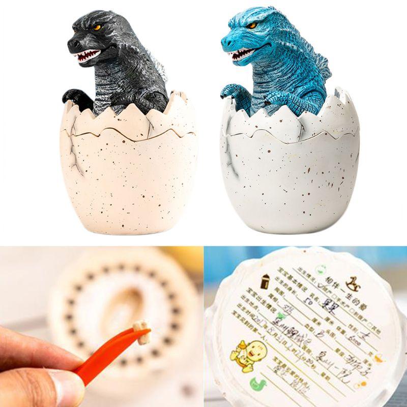 Resin Baby Boy Tooth Storage Box Milk Teeth Memory Keeper Case Organizer Kids Keepsake Gift Home Decorations