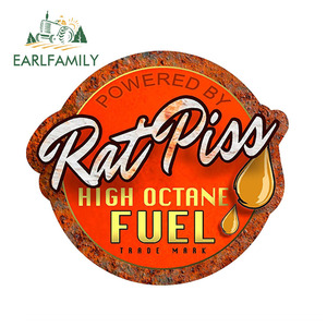 EARLFAMILY 12cm x 11cm Rat Rod Rat Piss High Octane Fuel Decal Car Window Truck Door Bumper Decals Car Stickers(China)