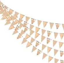 3m 26 bandeiras de papel champanhe triângulo banner guirlandas rosa ouro meninas festa de aniversário decoração suprimentos casamento pendurado guirlandas