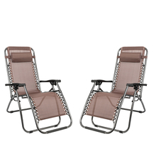 (US) 2pcs 175*66*111cm Plum Blossom Lock Portable Folding Chairs with Saucer Backyard Recliner Outdoor Cozy Couch Garden Chairs cheap CN(Origin) Iron Pipe Rafa Lin Cloth (37 4 x 25 59 x 9 84) Beach Chair Outdoor Furniture Modern Four colors 493 84oz 14000g