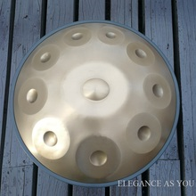 Nitride 10 tones Hang F major/ D minor alloy handwork HandPan professional hang drum bag Hand-made Drum dish golden