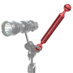 Image 5 - Fibre de carbone double tête à bille plongée photographie flotteur flottabilité bras caméra sous marine plateau Kit ultra léger 5/6/7/8/9/10/11/12 pouces