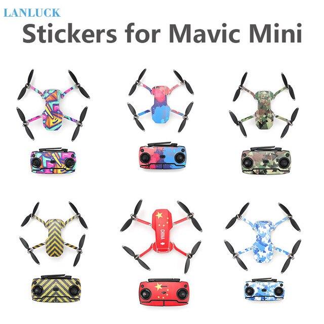 Koruyucu Film için PVC çıkartmalar Mavic Mini su geçirmez çizilmeye dayanıklı çıkartmaları tam kapak cilt DJI Mavic Mini aksesuarları