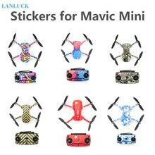 מגן סרט PVC מדבקות עבור Mavic מיני עמיד למים שריטה הוכחה מדבקות מלא כיסוי עור עבור DJI Mavic מיני אביזרים