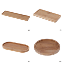 Bowls-Plates Trays-Base Pots Square Garden-Decor Bamboo Round Succulents Stander Crafts