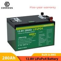 Nuovo pacco batteria 12V 280AH Lifepo4 300AH batteria ricaricabile bulit-in BMS al litio ferro fosfato per motore barca EU US senza tasse