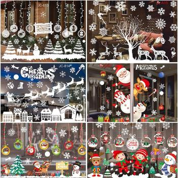 Christmas Window Stickers Merry Christmas Decorations For Home Christmas Wall Sticker  Kids Room Wall Decals New Year Stickers недорого