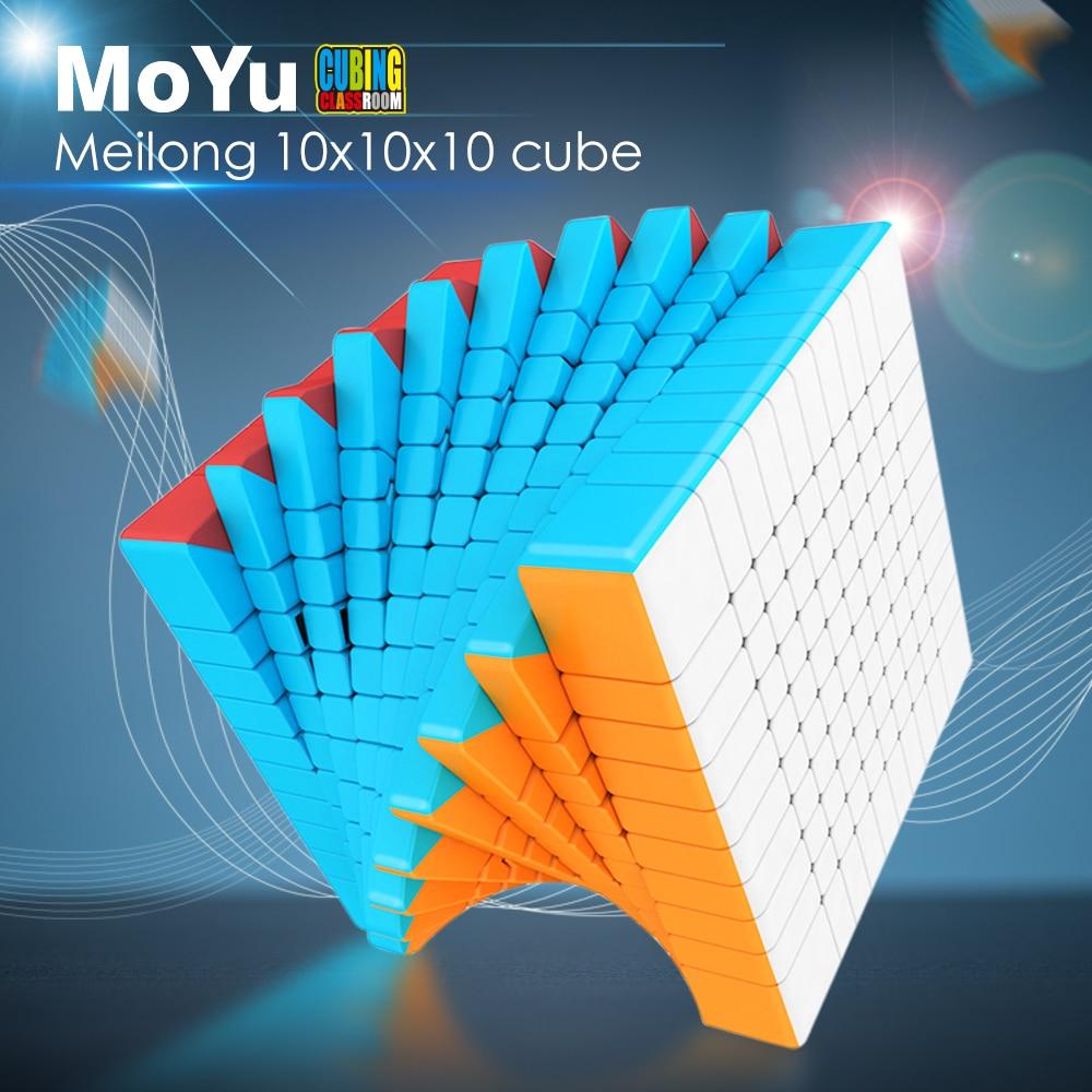 MoYu Cubing salle de classe Meilong 10x10x10 Magic Speed Cube sans autocollant Puzzle Cube jouets éducatifs pour enfants Cubo Magico 10x10