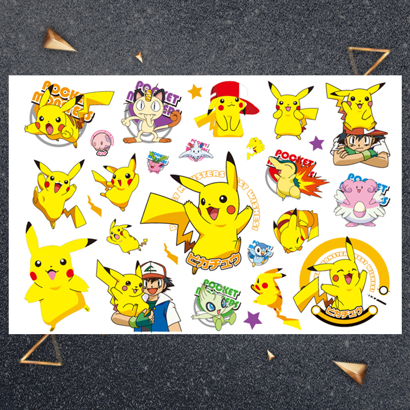 Hasbro Japanese Anime Characters Children Cartoon Temporary Tattoo Sticker For Boys Cartoon Toys Waterproof Party Kids Gift