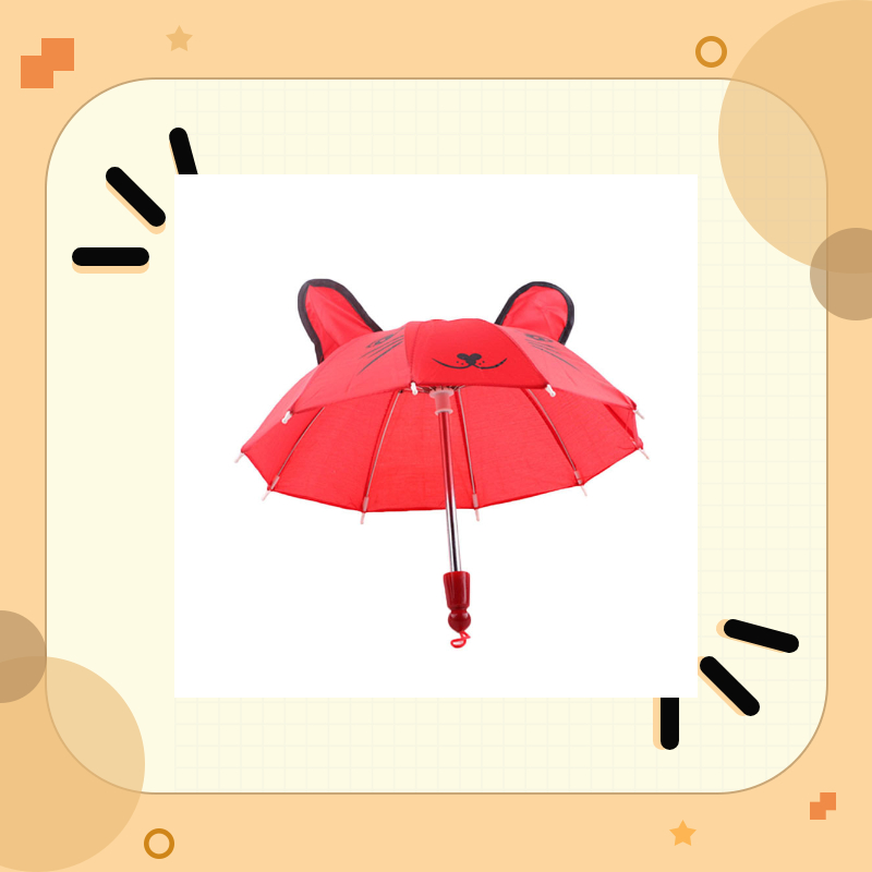 18inch Beautiful cute Umbrella Accessories Kids Girls boy Gifts long handle Suitable for American Girl Doll child's tools(China)